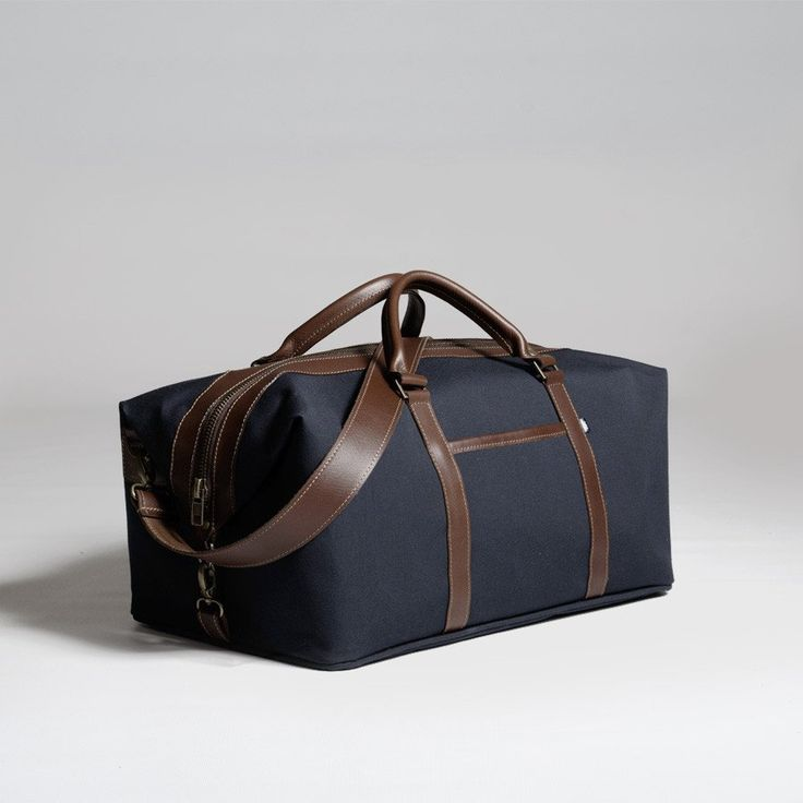 The Forge Weekender in navy by Mother Co. Made in Canada  - $169