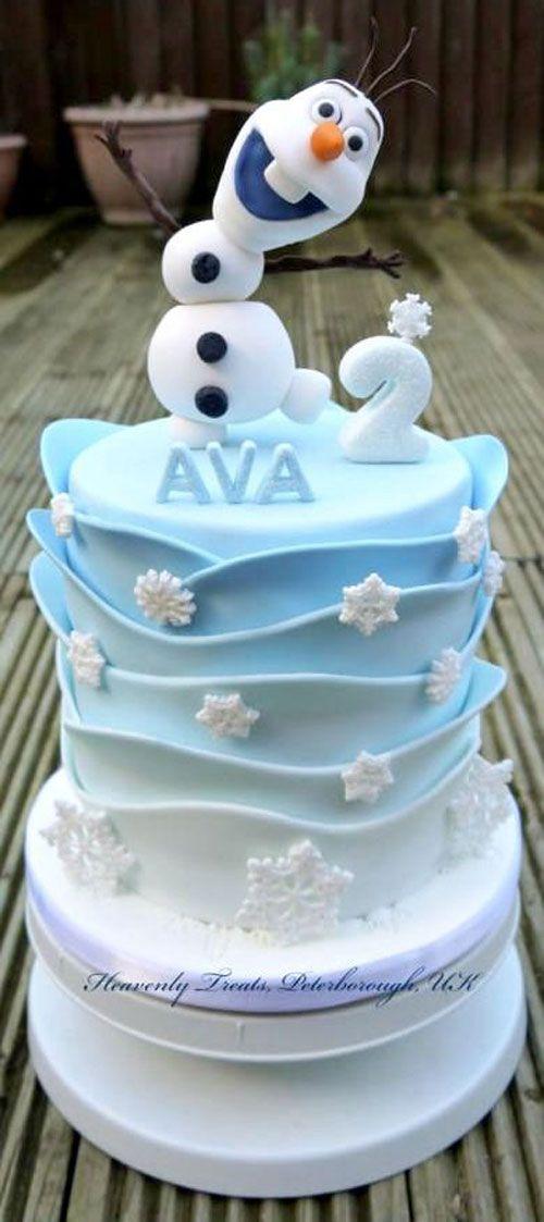 Torta di Frozen con decorazioni in pasta di zucchero n.35