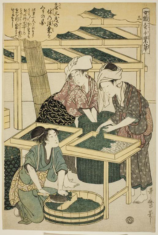 "Kitagawa Utamaro,   No. 3 (san), from the series ""Women Engaged in the Sericulture Industry (Joshoku kaiko tewaza-gusa)"""