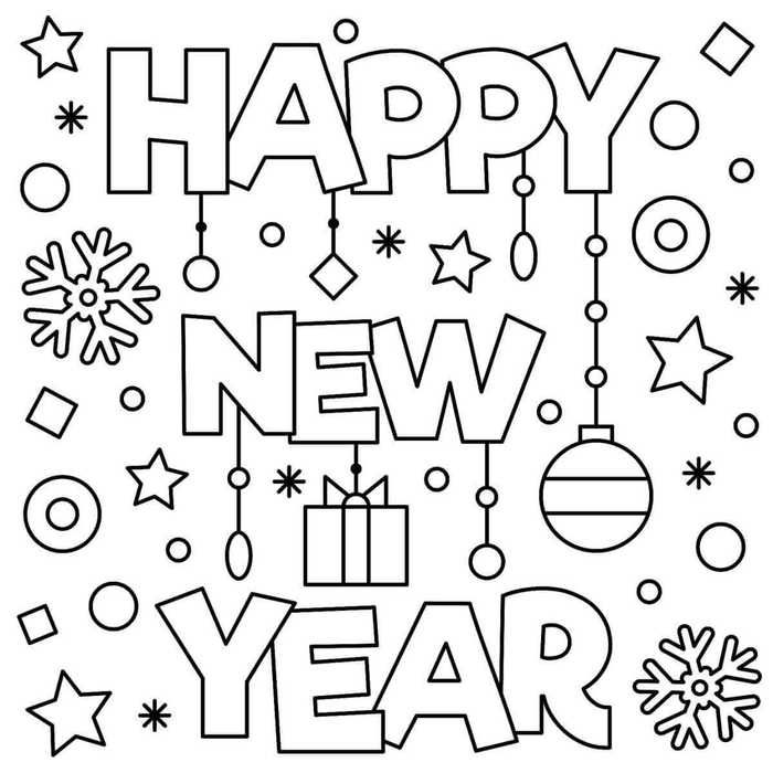 January Coloring Pages Printable New Year Coloring Pages