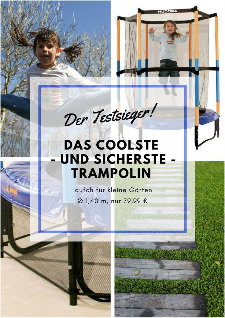 Das Hudora Joey Jump Trampolin bietet sicheren Spaß für deine Kinder und findet Platz auch in kleinen Gärten.