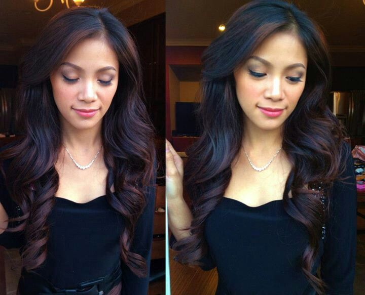 Bouncy volume curl for long hair By Orchid Duong Www.makeupbyorchid.com
