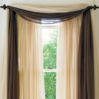 american living cape sheer scarf valance blue and cream would be perfect for our bedroom - Valances For Living Room