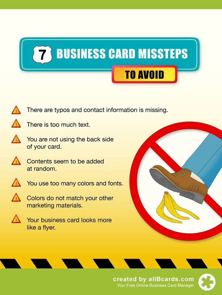 31 best business card networking tips images on pinterest mistakes you should avoid with your business card check out our complete guide to business colourmoves Gallery