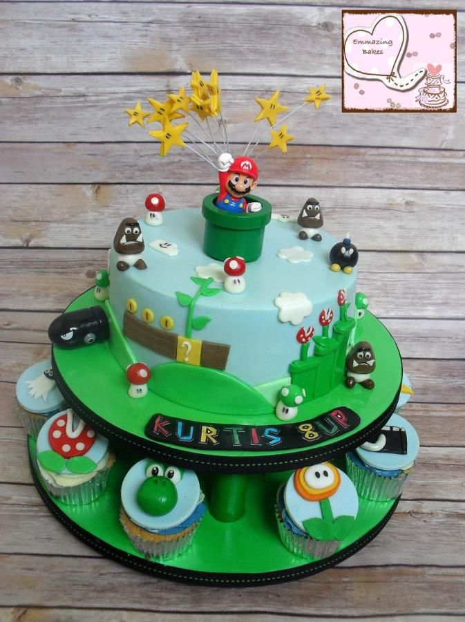 Baking a smile cake-Super Mario Brothers