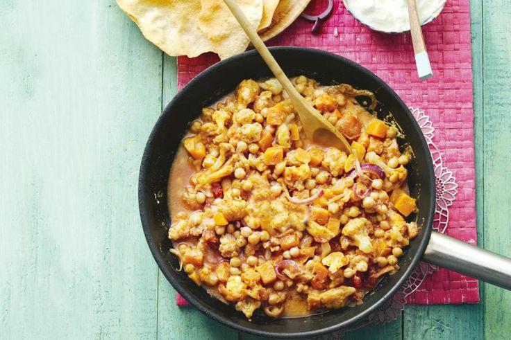 Kijk wat een lekker recept ik heb gevonden op Allerhande! Indiase groentecurry