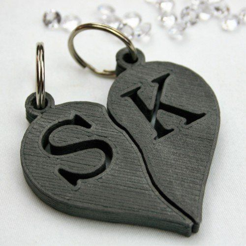 Personalised Couples Initials Heart Key Rings  Each piece is polished/sanded by hand helping us to create something unique for every customer that is ideal for music fans, homemakers and creatives.