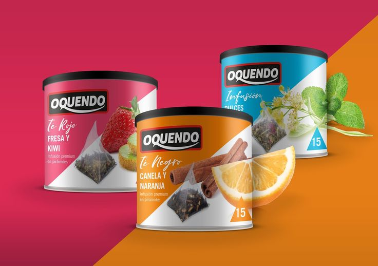 Cafés Oquendo Premium Tea on Packaging of the World - Creative Package Design Gallery