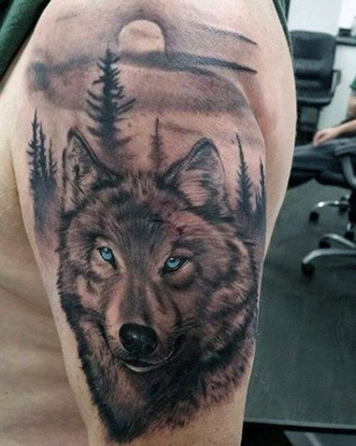 Alpha Male Lone Wolf Angry Wolf Tattoo