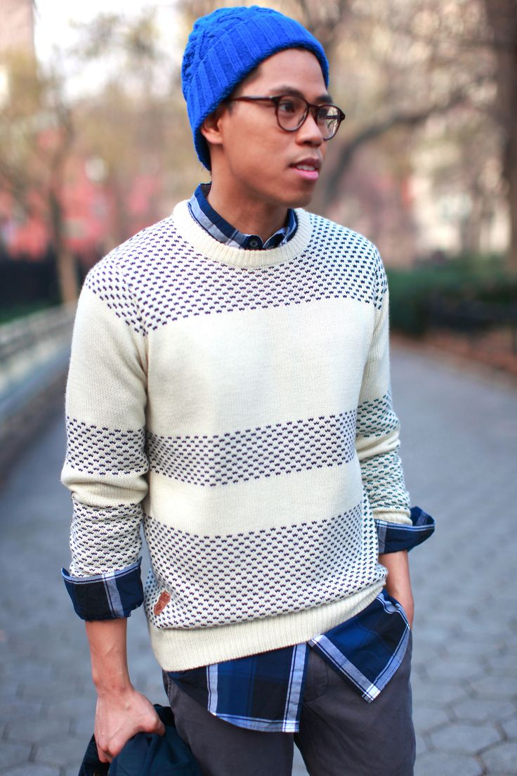OUTFIT: Men's Knitwear Monday Blues Is it just... | Closet Freaks | Menswear Blog By Anthony Urbano