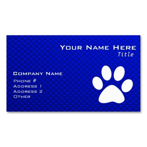 150 best electronics business cards images on pinterest lyrics blue paw print business card templates colourmoves