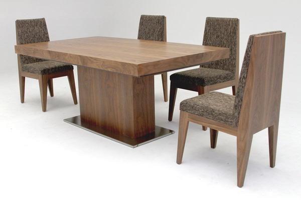 Modrest Zenith Modern Walnut Extendable Dining Table Walnut