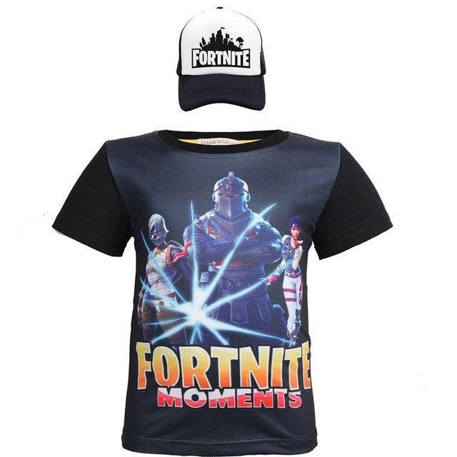 Fortnite Black Knight Long Sleeve Boys T-Shirt Battle Royale Kids Tee