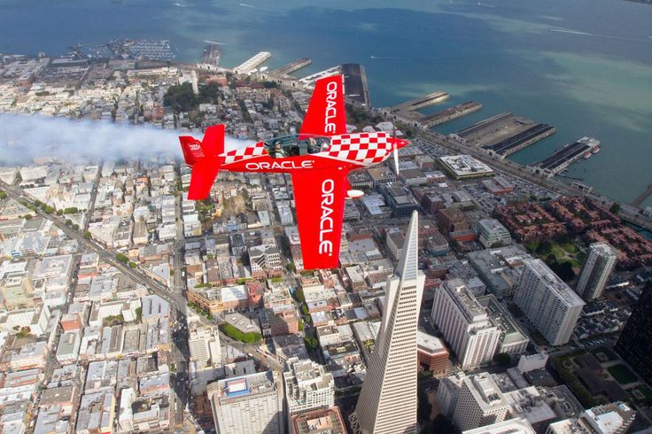 Air show over San Francisco, California, with Transamerica Pyramid in the background.  - http://earth66.com/aerial/air-san-francisco-california-transamerica-pyramid-background/