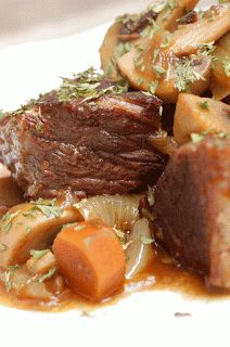 Julia Child's Boeuf Bourguignon- with links to the actual recipes