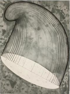 17Martin_Puryear.jpg    Phrygian (Cap in the Air)  2012  Color softground etching with spitbite aquatint, aquatint, and   drypoint on Somerset White paper  35 x 28 inches; 89 x 71 cm