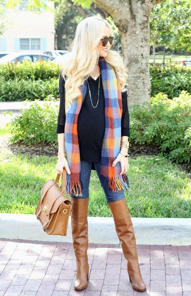 Scarf Accessory   Fall Maternity Fashion,check it out at http://youresopretty.com/fall-maternity-clothes