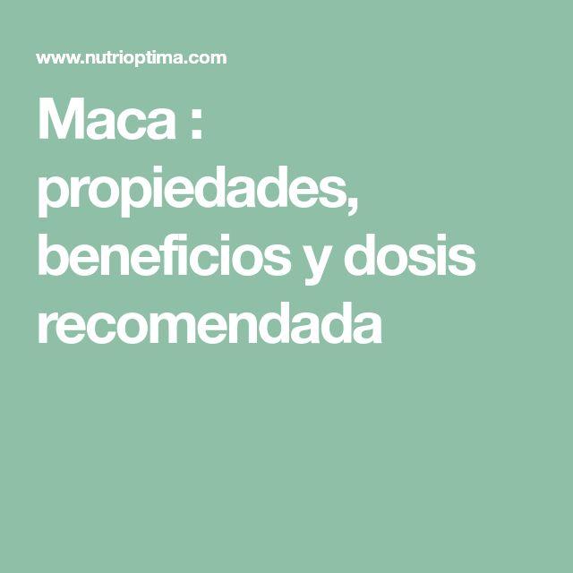 Maca : propiedades, beneficios y dosis recomendada