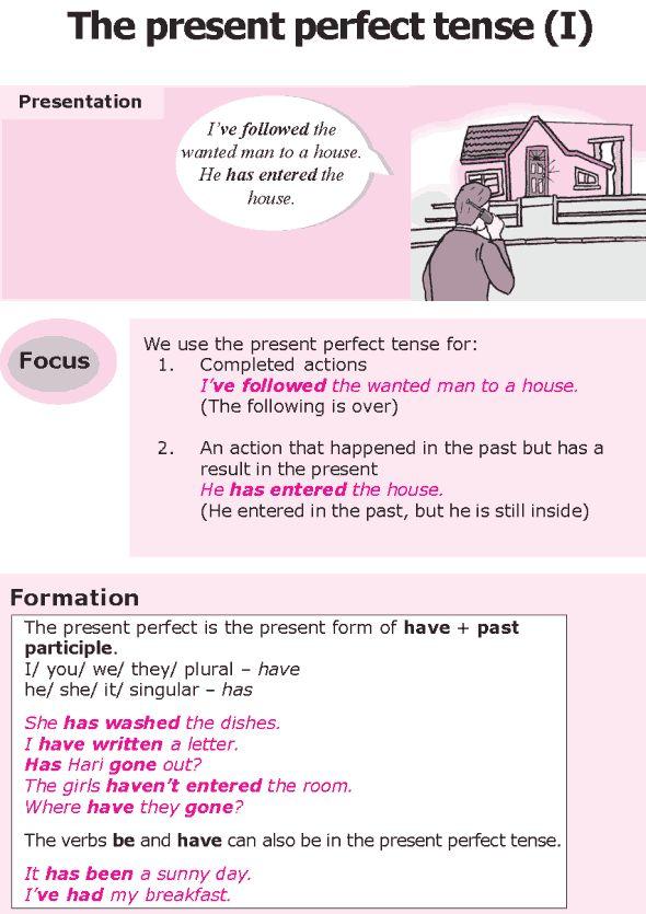 Grade 8 Grammar Lesson 4 The present perfect tense (I)