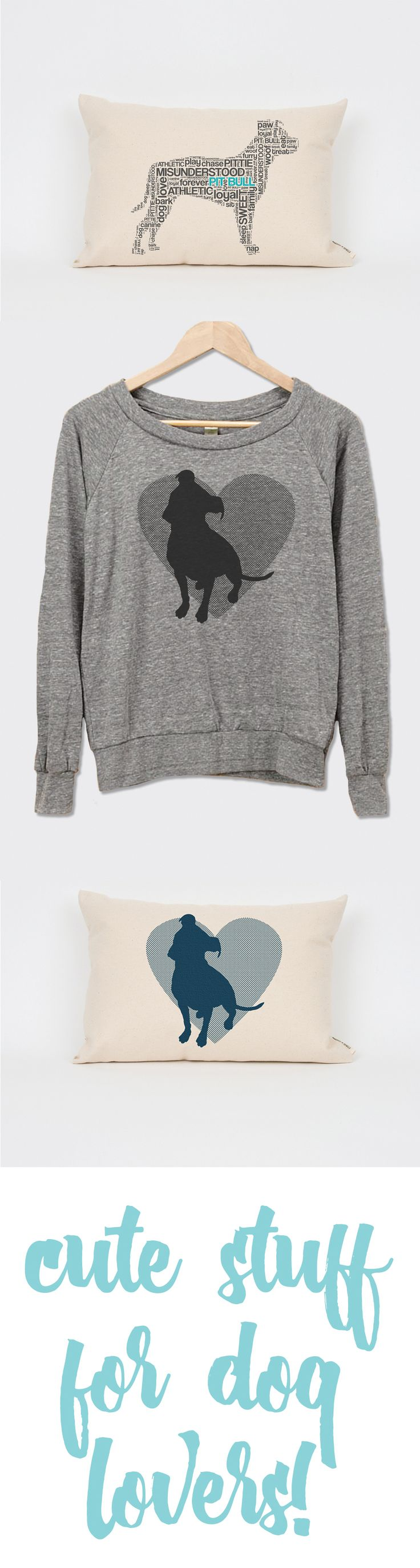 Show your pit bull love with cute stuff from Dog City & Co!