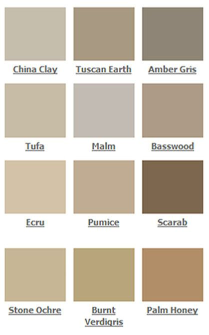 Brown colour palette, Elements of Colour by Kevin McCloud, Fired Earth paint (available from firedearth.com).
