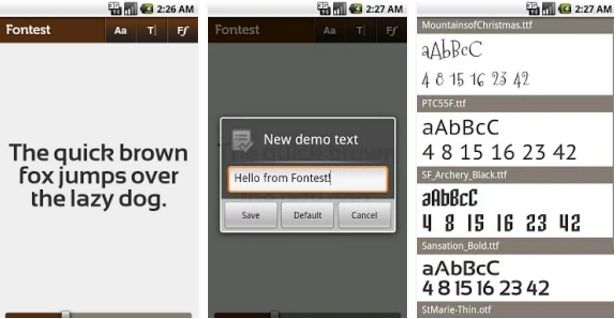 Fontest  App  #mobileapplications