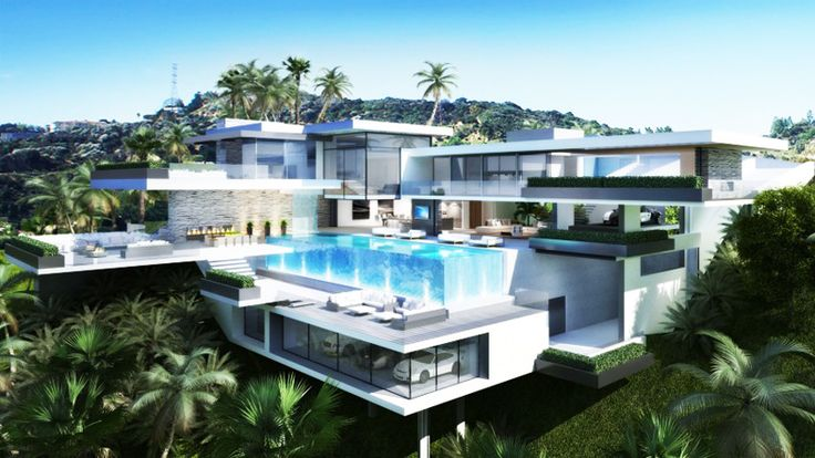 Two Luxury Ultramodern Mansions On Sunset Plaza Drive In