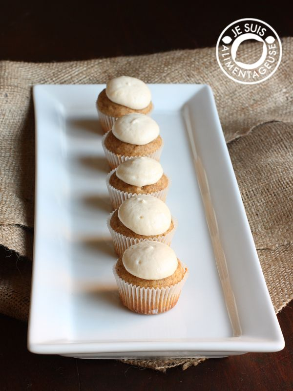 "Vegan Pumpkin Cupcakes with dairy-free ""Cream Cheese"" Icing - Skye"