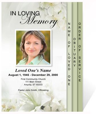 46 best funeral programs images on Pinterest Coding, Computer - memorial brochure template