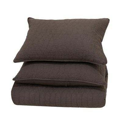 Kosas Home Corinne Single Reversible Quilt Size: King, Color: Chocolate