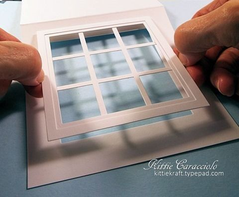 How to make this great shadow box card                                                                                                                                                                                 More