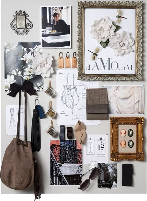 Fashion Moodboard - stylish, glam, chic inspirations for design // Glamourai