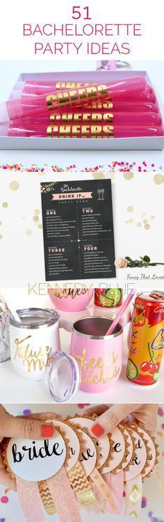Find fun ideas, games, gifts, and party favors with the ultimate list of bachelorette party ideas for the best night ever! | 51 Ideas for an Unforgettable Bachelorette Party | Kennedy Blue