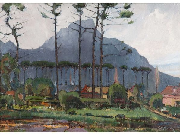 Pieter Willem Frederick Wenning : From Grove Road, Claremont, with Devil's Peak
