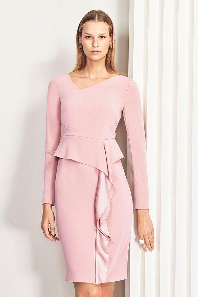 745c6b54ea8 Bayliss Dress English Rose Satin Back Crepe