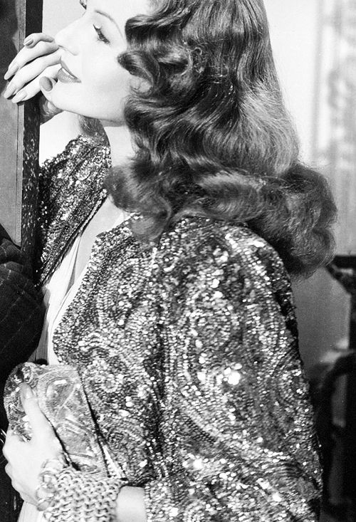Rita Hayworth in Gilda 1946  www.foreveryminute.com          Luxury Silk Lounge and Sleepwear