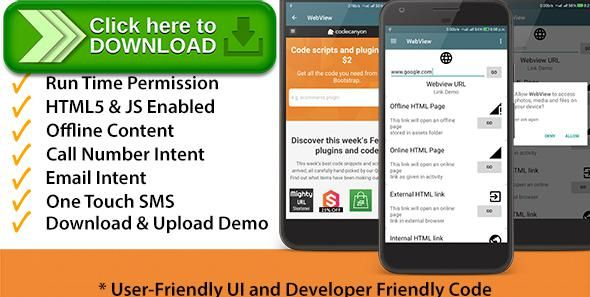 [ThemeForest]Free nulled download All - In - One : WebView App for Android from http://zippyfile.download/f.php?id=38053 Tags: ecommerce, android, android call demo, android demo, android demo templates, android email demo, android intents demo, Android source code, android templates, android webview, android webviewapp, templates, webview