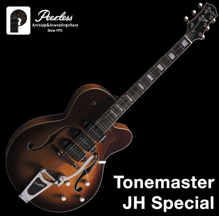 "Peerless Tonemaster JH Special Hollow Body Jazz Guitar Tabacco Sunburst P90 16"" #Peerless"