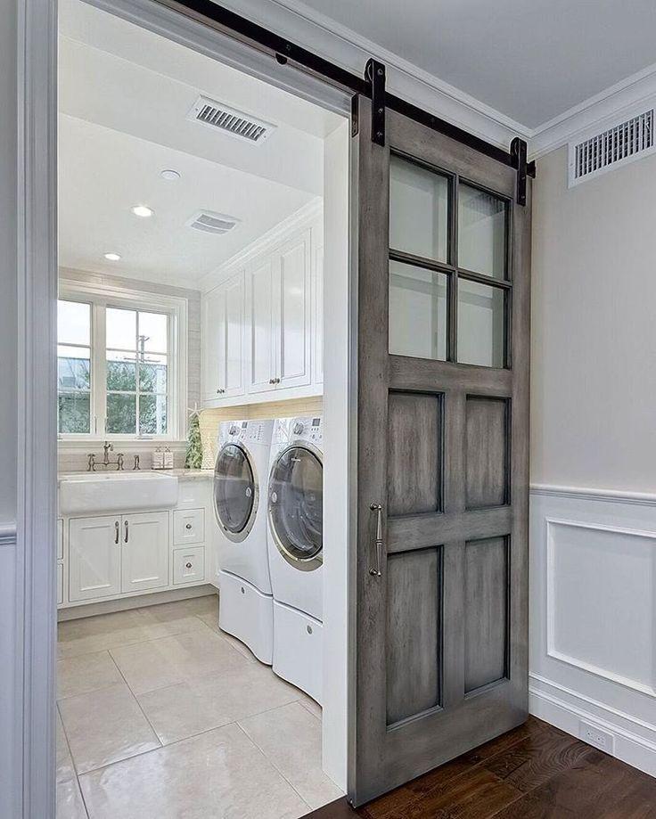 Farmhouse Touches Via Pinterest Laundry Room Inspiration Mudroom Dream