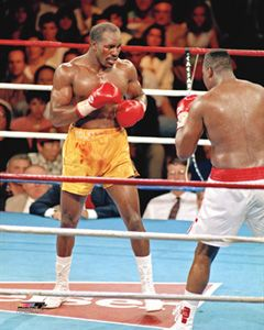 Evander Holyfield ACTION '92 Boxing Poster Print (vs. Larry Holmes) - available at www.sportsposterwarehouse.com