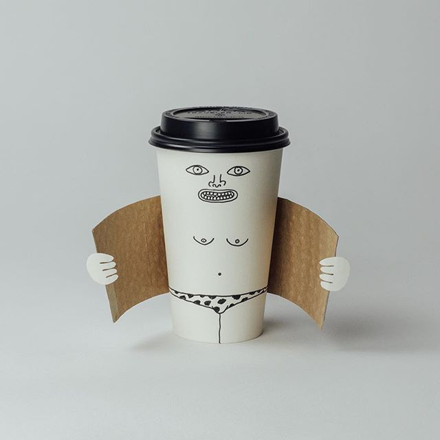 Exhibitionist Coffee Cup (crop) - 2011, 2015  special edition for banksy's #dismaland #tbt #banksy