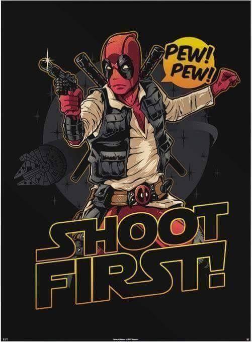 #Deadpool #Fan #Art. (Shoot First!) By: Riptapparel. (THE * 5 * STÅR * ÅWARD * OF: * AW YEAH, IT'S MAJOR ÅWESOMENESS!!!™) [THANK U 4 PINNING!!!<·><]<©>ÅÅÅ+(OB4E)