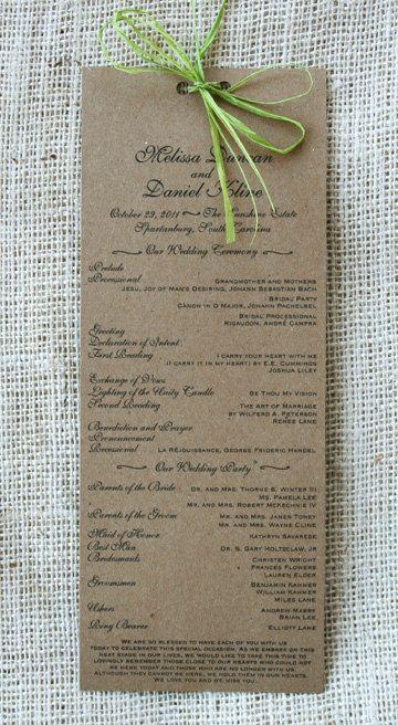 Best 25+ Rustic wedding programs ideas on Pinterest   Fun wedding ...
