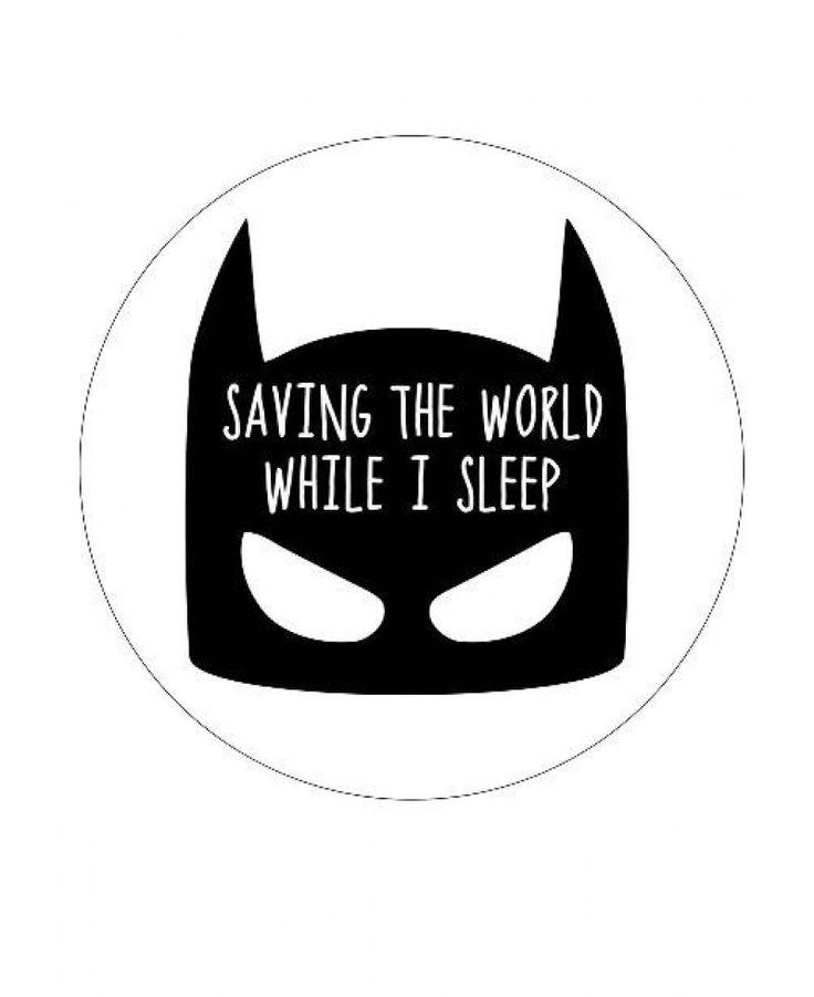 Saving the world muursticker