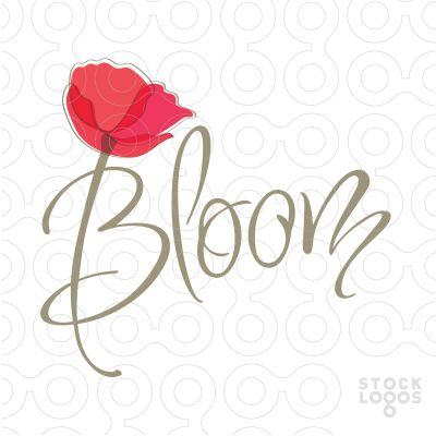 #29. Interesting way to incorporate a flower into the logo through the letter B. bloom flower logo | StockLogos.com