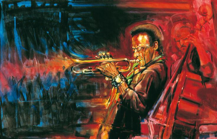 Jazz Art Paintings / Miles Davis 2 / acrylics on canvas / 160x120 cm. / Sold