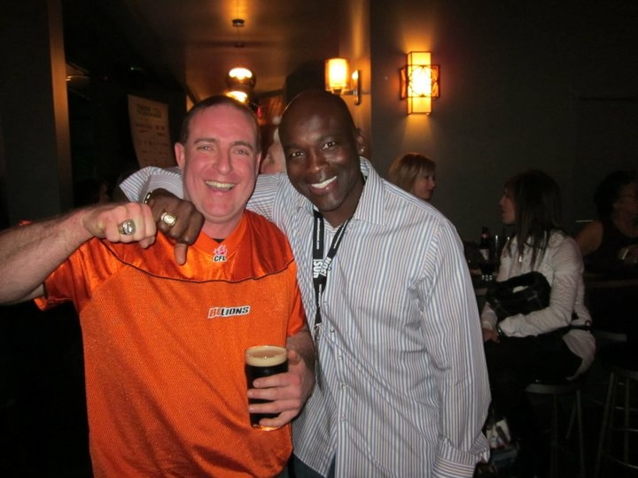 Willie Pless letting my husband wear his ring.