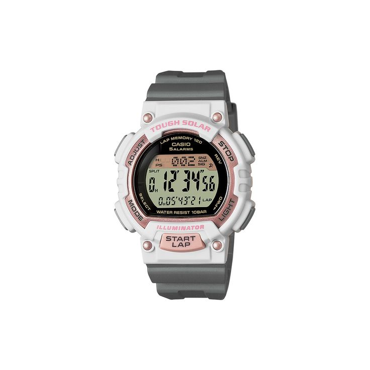 Casio Women's Tough Solar Digital Watch, Grey
