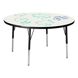Learniture Round Activity Table w/ Whiteboard Top https://www.schooloutfitters.com/catalog/product_info/pfam_id/PFAM46770/products_id/PRO61947?sc_cid=Google_LNT-RAL48R-PK-SO&adtype=pla&kw=&CAWELAID=320012570000042209&CAGPSPN=pla&CAAGID=13113487337&CATCI=pla-134985814577