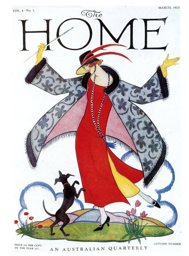Thea Proctor, cover art for The-Home-magazine, March-1923